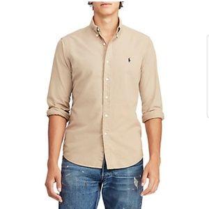 Ralph Lauren Blake Shirt XL Tan Button Down Cotton